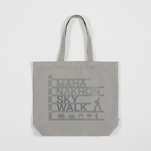 Mahanakhon SkyWalk Don't Look Down Tote Bag Grey