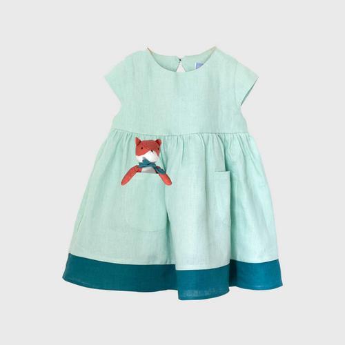 TINY MOON Lola Dress with PocketPal 2-3Y - Mint