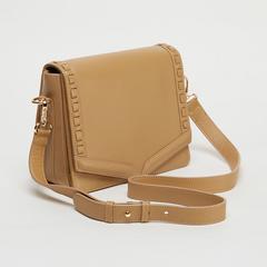 Voyage of Style Leather Handbag - Beige