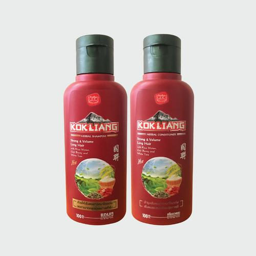 KOKLIANG STRONG & VOLUME LONG HAIR SET 100ML X2 (SHAMPOO & CONDITIONER)