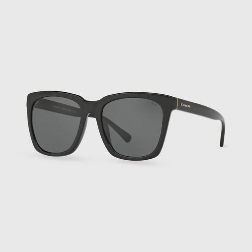 COACH Black Dark Grey Female Sunglasses