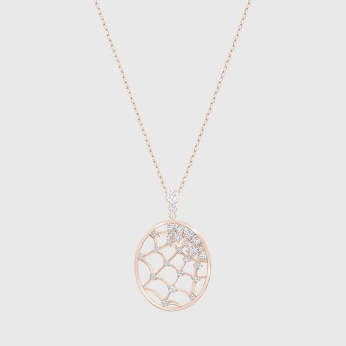 SWAROVSKI Precisely Pendant, White, Rose-gold tone plated