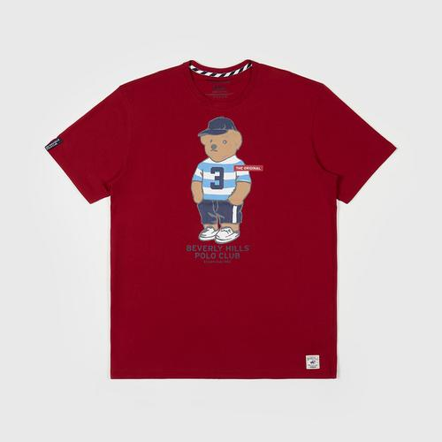 BEVERLY HILLS POLO CLUB  T-Shirt - Red - M