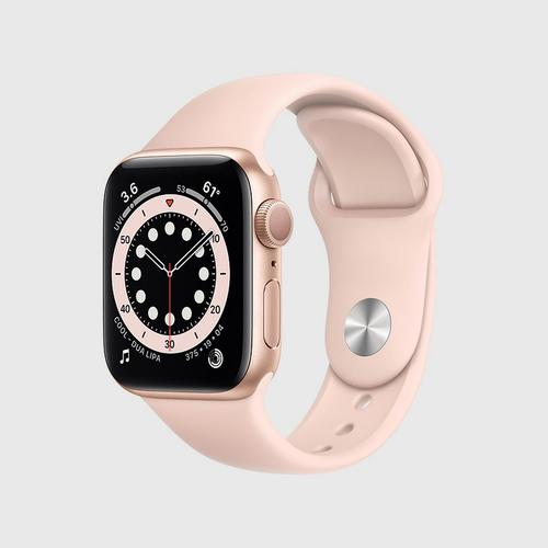 Apple Watch Series 6 (GPS) Gold Aluminum Case  with Pink Sand Sport Band(40mm)
