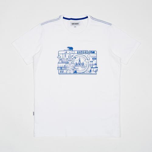 MAHANAKHON 泰国印象回忆图案T恤 - XL码 (白色)