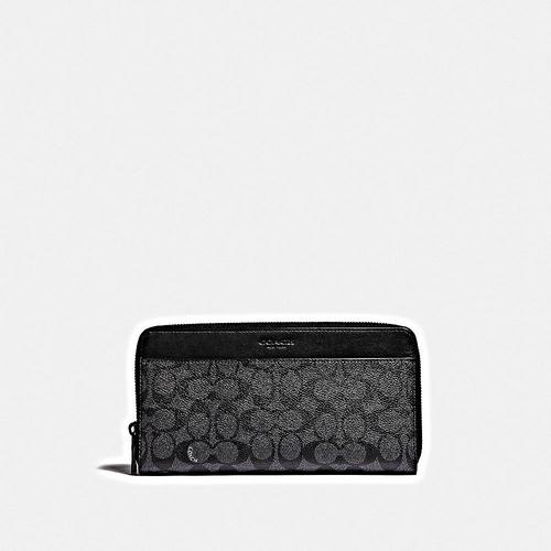 COACH Travel Wallet in Signature - CHARCOAL
