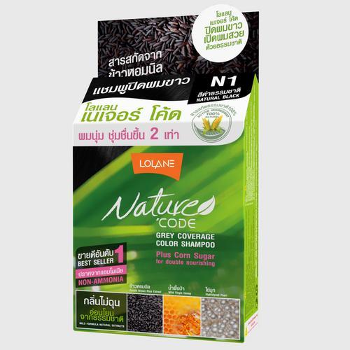 Lolane Nature Code Color Shampoo N1-Natural Black 10 ml.