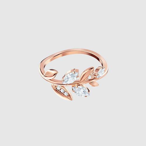 SWAROVSKI Mayfly Ring, White, Rose gold plating - Size 55