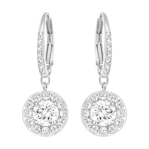 SWAROVSKI Attract Earrings ,White, Rhodium Plated
