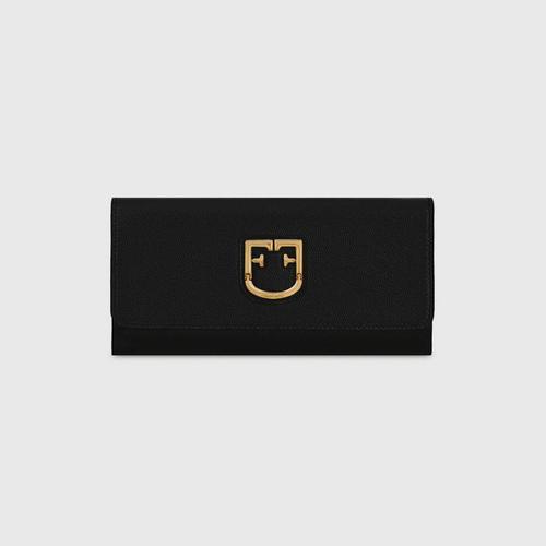 FURLA BELVEDERE XL BI-FOLD WALLET BLACK ONYX