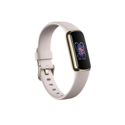 Fitbit Luxe Firness Tracker - Lunar White / Soft Gold Stainless Steel