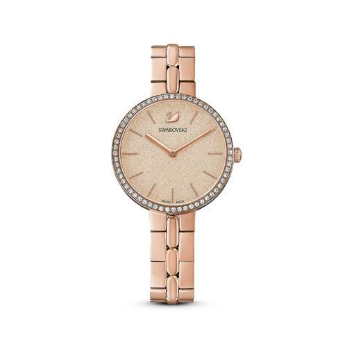 SWAROVSKI Cosmopolitan Watch, Metal bracelet, Pink, Rose-gold tone PVD