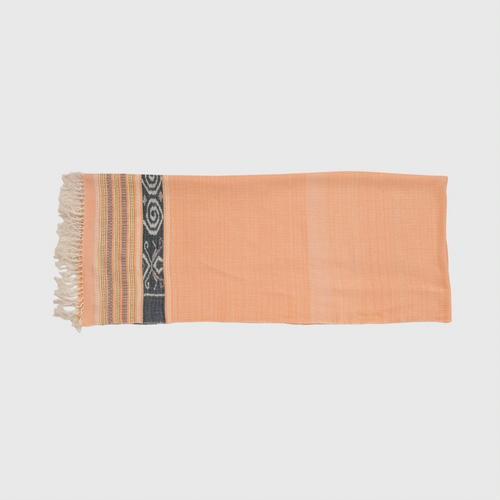 HATTRA Cotton Desy Shawl 85x200 cm.  ORANGE