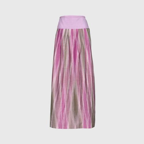 TAYWA - Hand-woven cotton skirt  Free size lotus petal pink