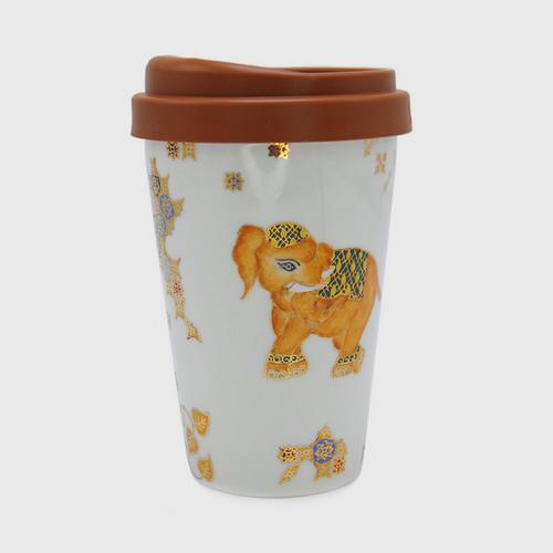 BURAN BENJARONG Mug Non Hld. New bone size 400 cc (14.45 oz)