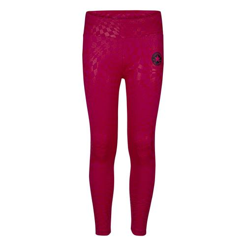 CONVERSE  High Rise Checked Leggings - Prime Pink - Girls S