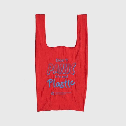 MAHANAKHON Shopping Bag - Don't Panic / Red