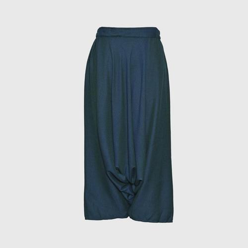 TAYWA - Hand woven cotton pants Free size Navy blue