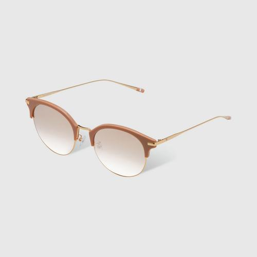 VEDI VERO VE923/BRG Gradient Brown Browline Sunglasses
