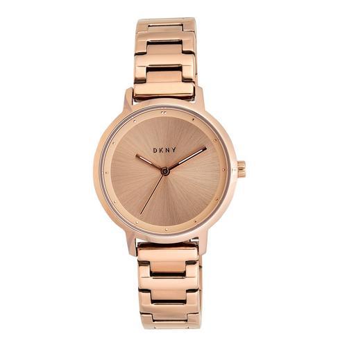 现代主义玫瑰金不锈钢腕表
