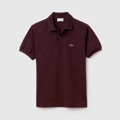 LACOSTE Classic Fit L.12.12 Polo Shirt Brown  - Size 2