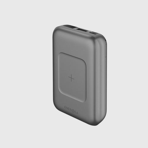 Energea Power Bank Compac Wireless PD 18W 10000MAH Gunmetal