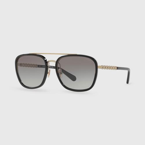 COACH Sanded Light Gold Grey Gradient Female Sunglasses