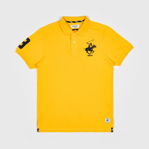 BEVERLY HILLS POLO CLUB S/S POLO SHIRT   YELLOW -M
