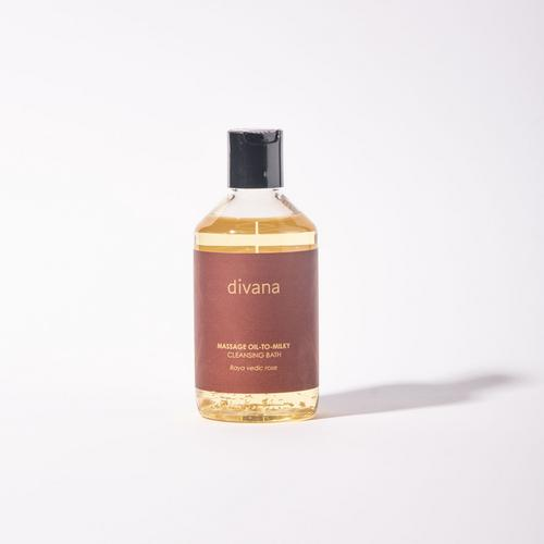 Divana Massage Oil To Milky Cleansing Bath Raya Vedic Rose Pure-FumePurify Scent 250 Ml.