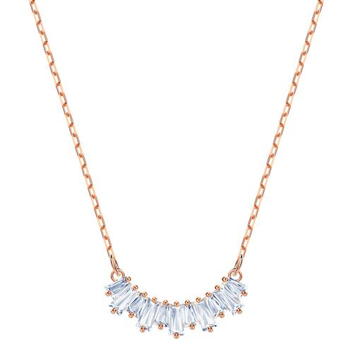SWAROVSKI Sunshine Necklace, White, Rose-gold tone plated