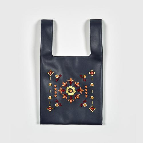 MAHANAKHON Tiles Embroidery Bag - Navy