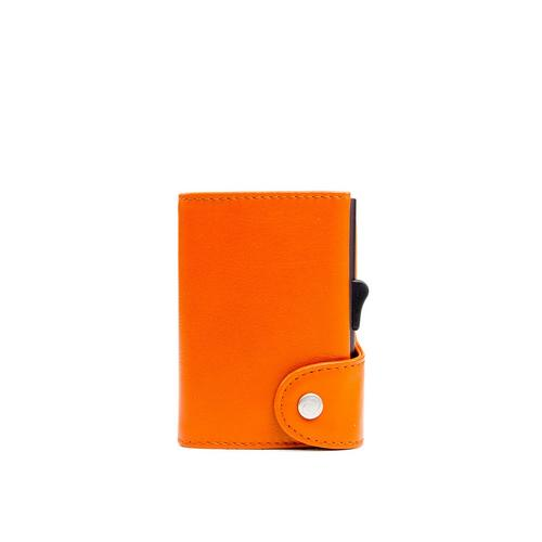 C-SECURE RFID Classic Leather Wallet Arancio/ORANGE XL Card holder