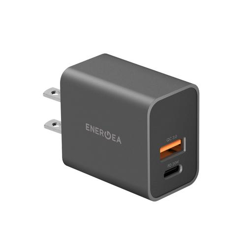 ENERGEA AMPCHARGE PD20+, 2 USB WALL CHARGER (US) - GUNMETAL