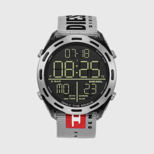 DIESEL Crusher Digital Grey Nylon Watch