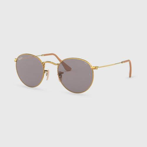 RAY-BAN Gold Round Metal