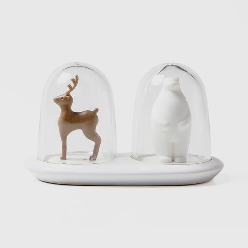 QUALY Salt & Pepper Shaker - Wild Life (Deer + Bear)