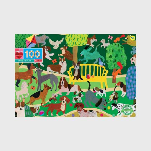 EEBOO - Dogs at Play 100 Pc Puzzle