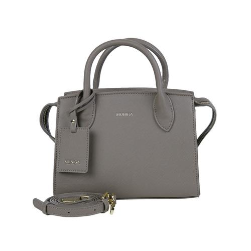 "MUNIGA ""MARIEN"" SHOULDER BAG (Dark Gray) L23 x H 18 x W 11 cm."
