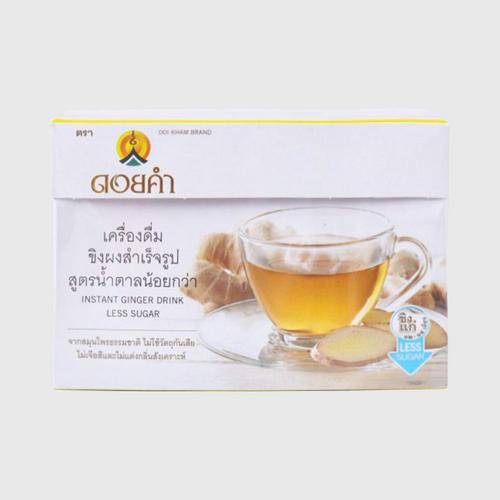 DOI KHAM Instant Ginger Drink Less Sugar Formula (INSTANT GINGER DRINK LESS SUGAR)  (In box 9 g./12 sachets)