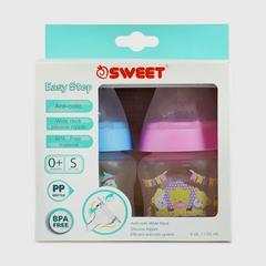 SWEET 5盎司宽乳奶瓶(粉红色和蓝色)