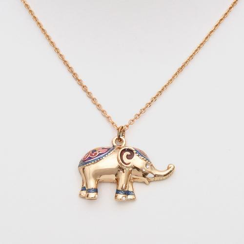 LOYFAR Necklaces with Pewter Elephant Pendant