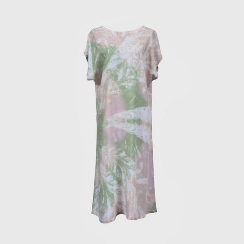 WONGDUENMATYOM - Tie-dyed sleeves dress, fan pattern FREE SIZE