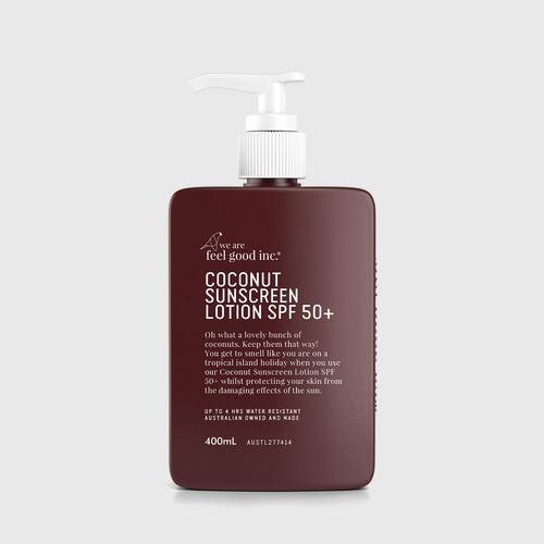 We Are Feel Good Inc. Coconut Sunscreen Lotion SPF 50+ 400 ml.