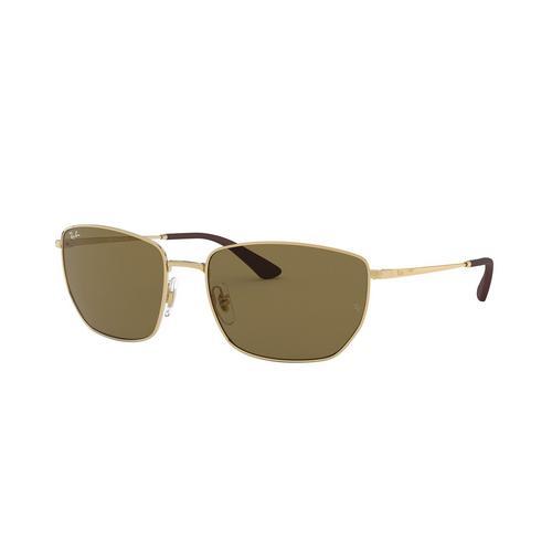 RAYBAN 0RB3653 Gold Metal Sunglasses