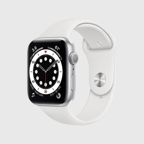 Apple Watch Series 6 (GPS) Silver Aluminum Case with White Sport Band(44mm)