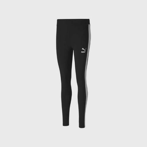 PUMA Classics Logo T7 MR Legging - Black Size XS UK