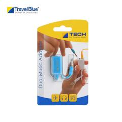 Travel Blue TB562 Dual Music adator Headphone - Blue