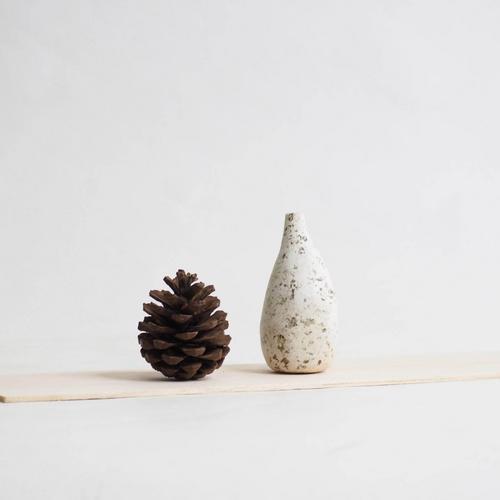 103 Paper mini vase Size XL white & brown