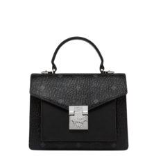 MCM PATRICIA VISETOS SATCHEL - Black (Small)