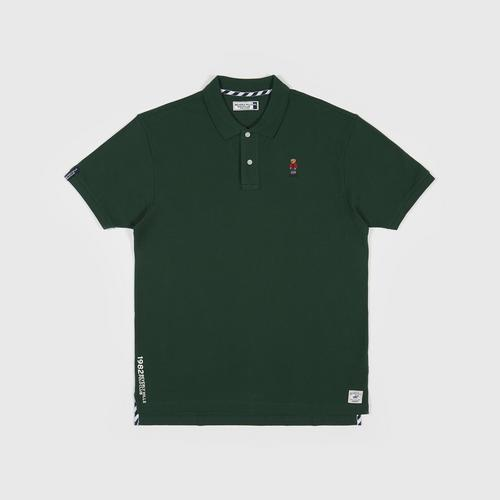 BEVERLY HILLS POLO CLUB Polo Shirt with Logo GREEN Size 3XL